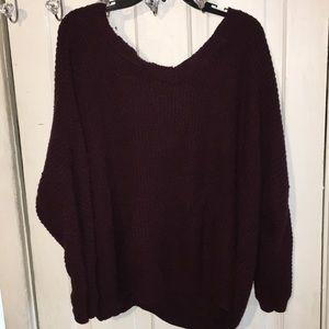 Rue 21 dark purple sweater
